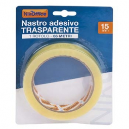 NASTRO TRASP 15X66 BLISTERATO ADESIVO